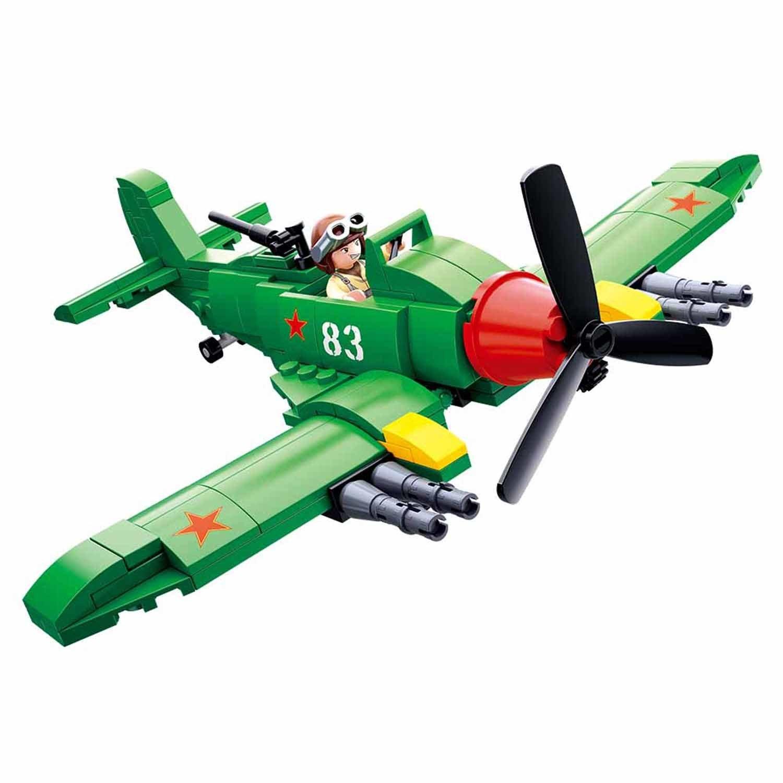 Конструктор - Самолет с фигуркой 170 деталей.
