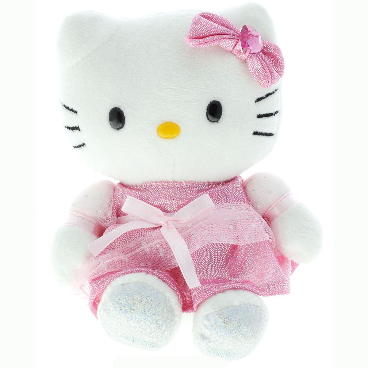 Мягкая игрушка «Хеллоу Китти», озвученная, с русским чипом, 15 см.Игрушки Hello Kitty<br>Мягкая игрушка «Хеллоу Китти», озвученная, с русским чипом, 15 см.<br>