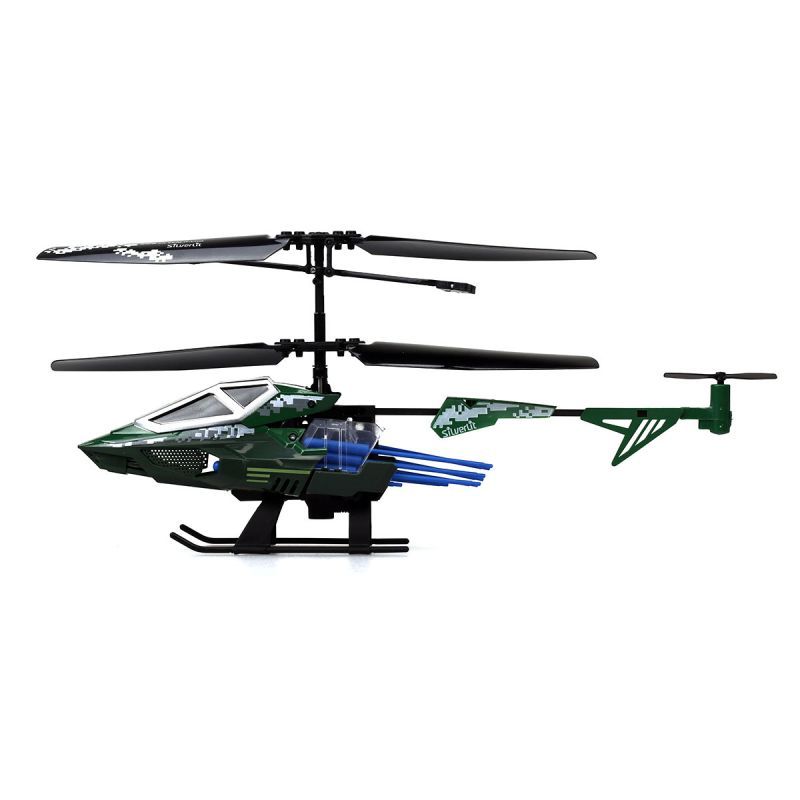 3-х канальный вертолет Heli Sniper 2 со стрелами, зеленый
