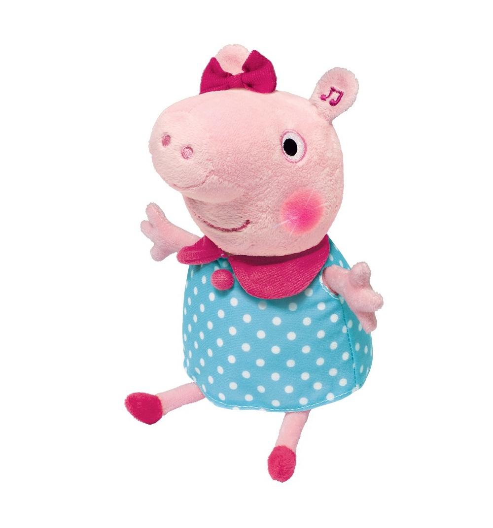 Купить Мягкая игрушка Пеппа, 30 см, Peppa Pig с двигательными, световыми и звуковыми эффектами, Росмэн