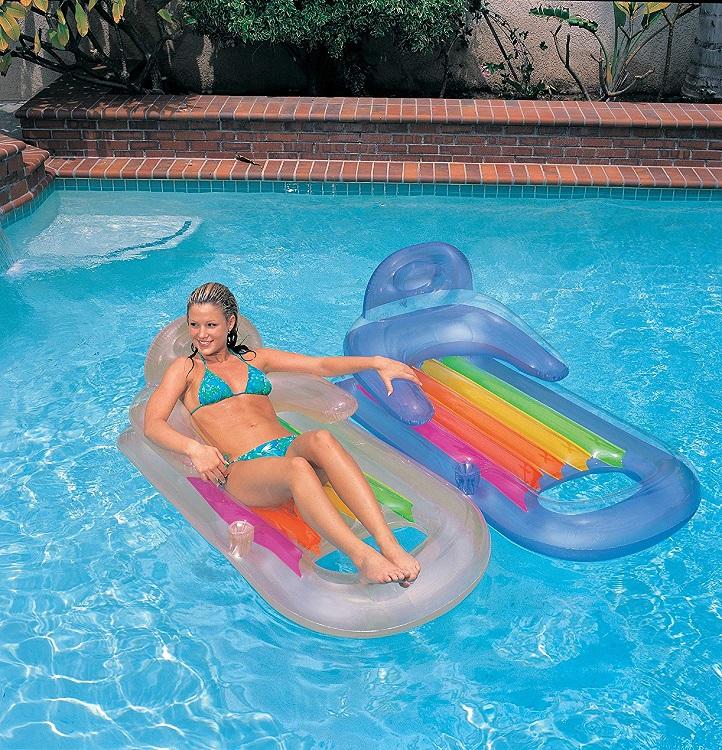 Купить Надувной матрас-кресло Кинг кул 160 х 85 см., 2 цвета, Intex