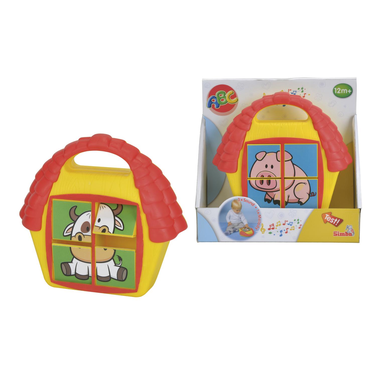 Кубики-пазл со звуком, 19 см.Развивающие игрушки Simba Baby<br>Кубики-пазл со звуком, 19 см.<br>