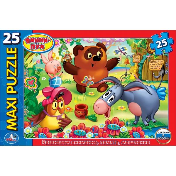 Макси-пазл – Винни Пух, 25 деталейПазлы для малышей<br>Макси-пазл – Винни Пух, 25 деталей<br>