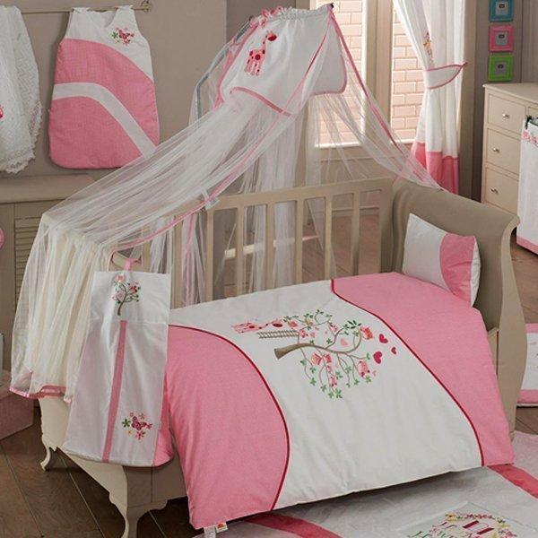 Комплект из 6 предметов - Sweet Home, розовыйДетское постельное белье<br>Комплект из 6 предметов - Sweet Home, розовый<br>