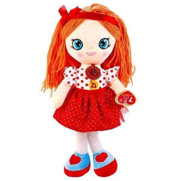 Мягкая кукла 45 см., стихи и песенки на стихи А. Барто, Мульти-Пульти  - купить со скидкой