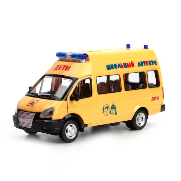 Машина Газель - Школьный автобус, свет, звукГазель<br>Машина Газель - Школьный автобус, свет, звук<br>