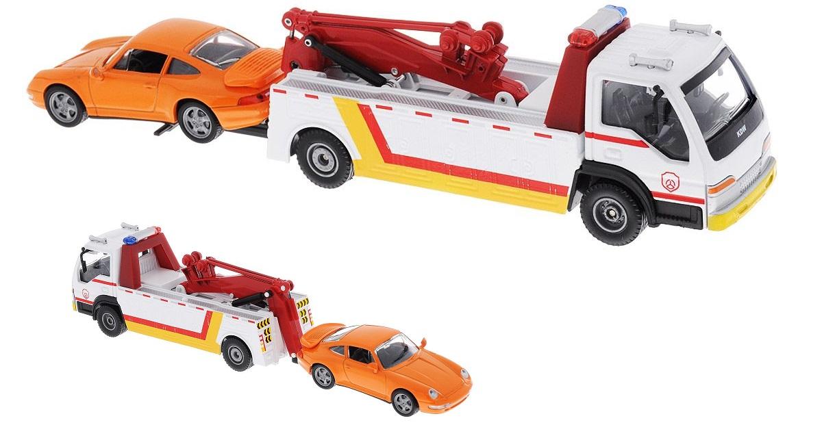 Эвакуатор с легковым автомобилем, масштаб 1:50Городская техника<br>Эвакуатор с легковым автомобилем, масштаб 1:50<br>