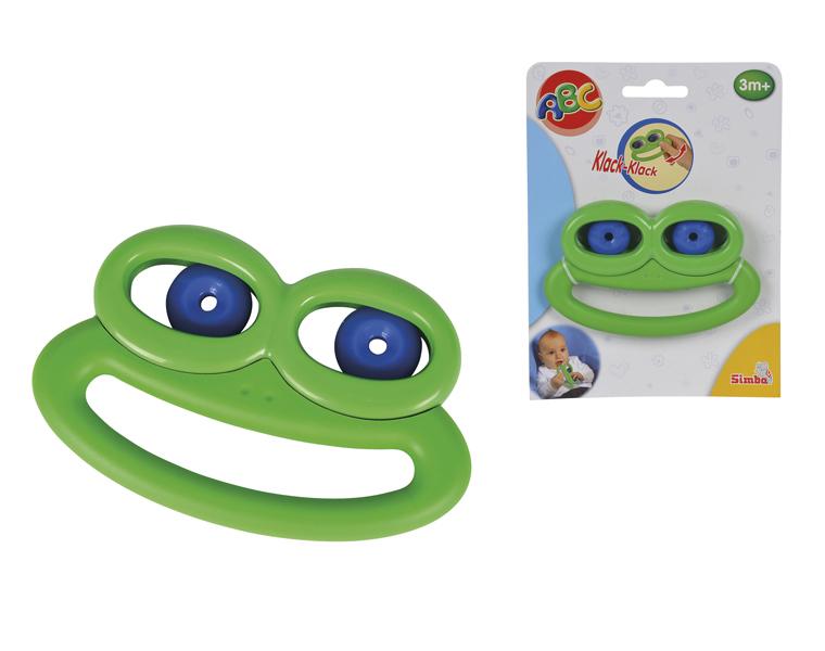 Погремушка Лягушка с подвижными глазами, 12 см.Детские погремушки и подвесные игрушки на кроватку<br>Погремушка Лягушка с подвижными глазами, 12 см.<br>