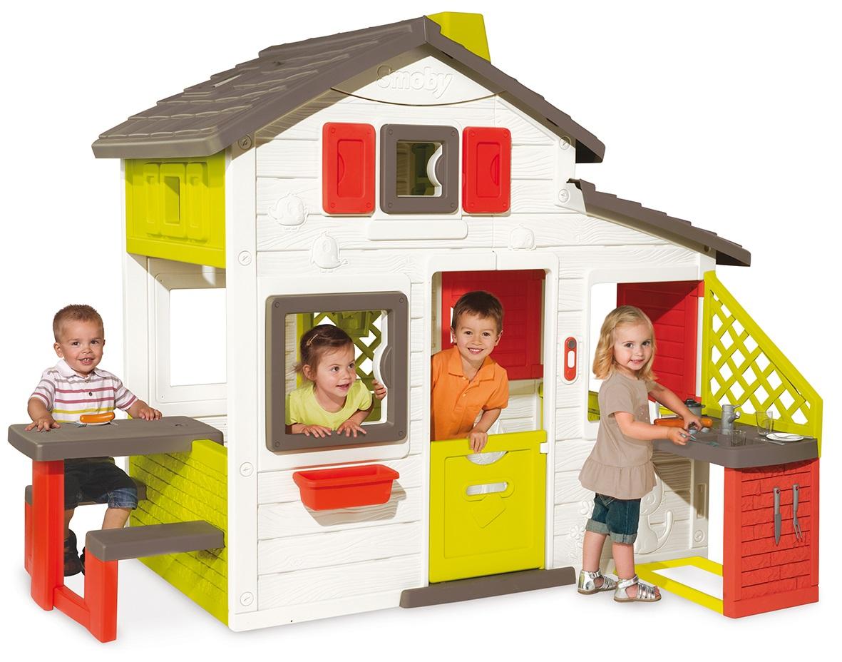 Домик для друзей с кухней и аксессуарамиПластиковые домики для дачи<br>Домик для друзей с кухней и аксессуарами<br>