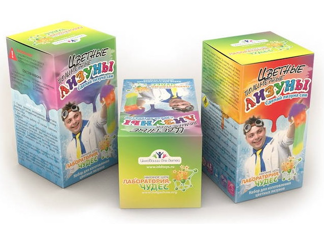 Набор «Сделай своими руками» - Цветные полимерные лизуныЮный химик<br>Набор «Сделай своими руками» - Цветные полимерные лизуны<br>