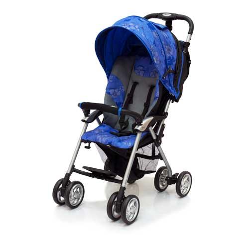 Коляска прогулочная Elegant, Black/Blue FloverДетские коляски Capella Jetem, Baby Care<br>Коляска прогулочная Elegant, Black/Blue Flover<br>