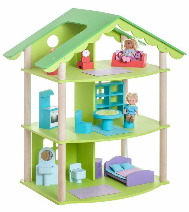 Кукольный домик – Фиолент, с мебелью 14 предметовКукольные домики<br>Кукольный домик – Фиолент, с мебелью 14 предметов<br>