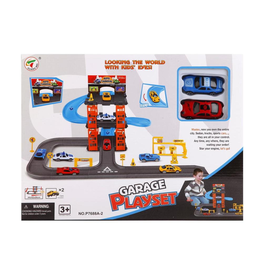 Купить Игровой набор - Гараж с 2-мя машинками и аксессуарами