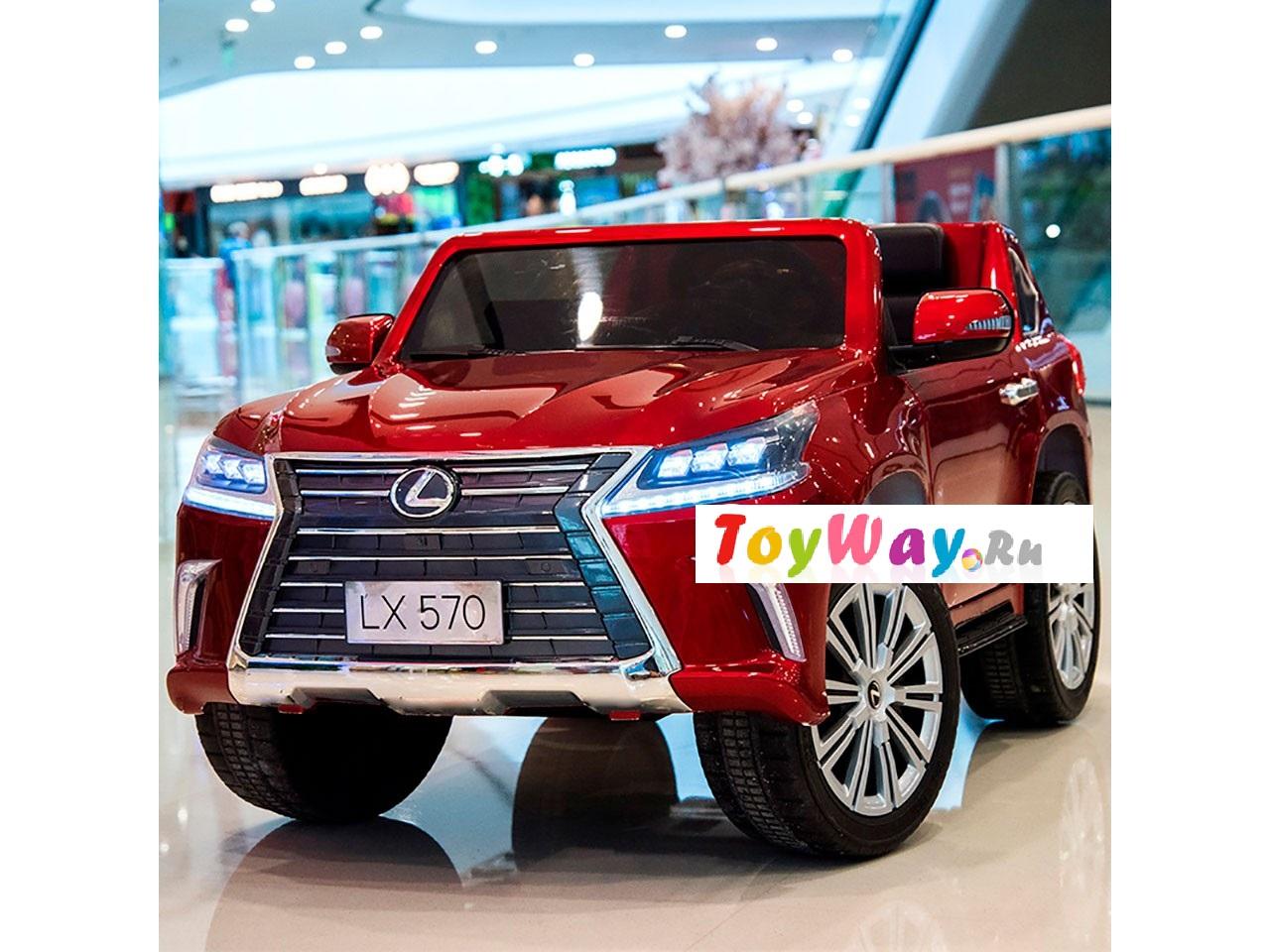 Электромобиль Lexus LX570, красный