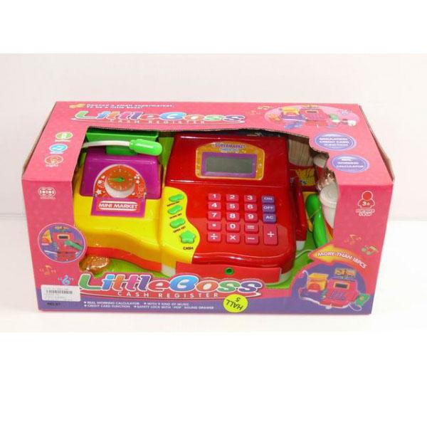 Кассовый аппарат, свет и звук - Детская игрушка Касса. Магазин. Супермаркет, артикул: 159983