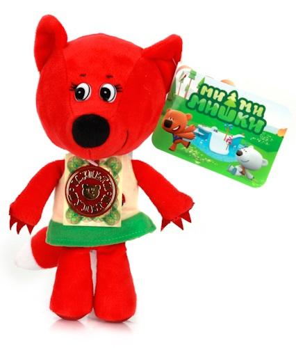 Озвученная мягкая игрушка Ми-Ми-Мишки - Лисичка, 18 смГоворящие игрушки<br>Озвученная мягкая игрушка Ми-Ми-Мишки - Лисичка, 18 см<br>