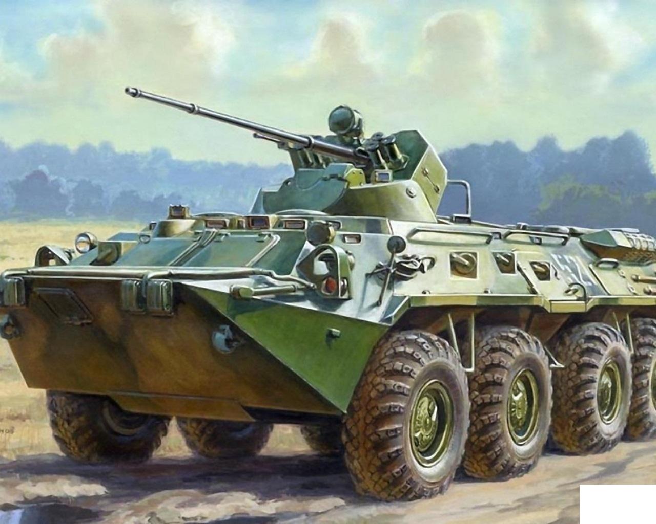 Модель для склеивания - Советский БТР-80АМодели автомобилей для склеивания<br>Модель для склеивания - Советский БТР-80А<br>