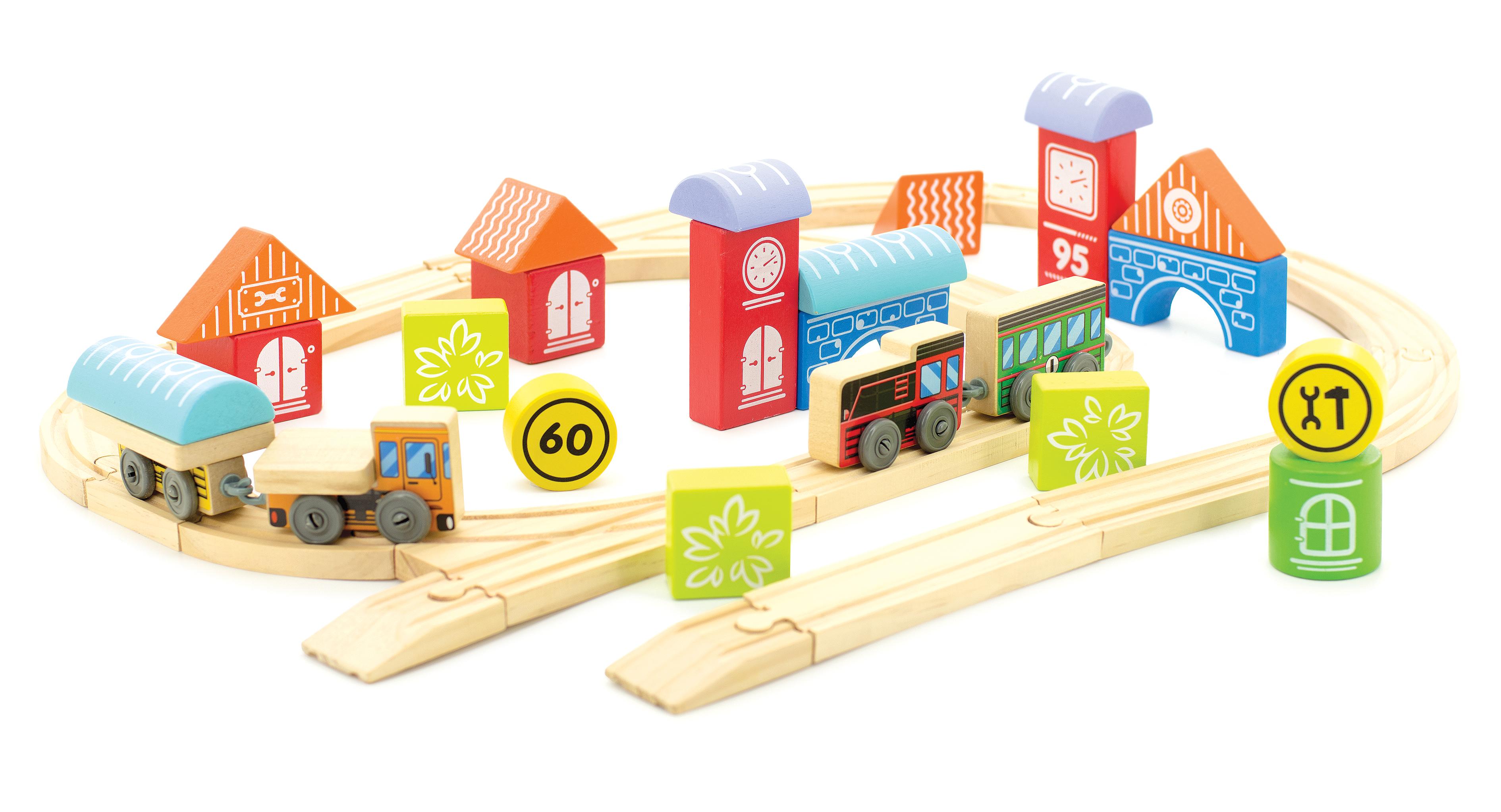 Трасса – Город с машинкой и паровозомЖелезная дорога для малышей<br>Трасса – Город с машинкой и паровозом<br>