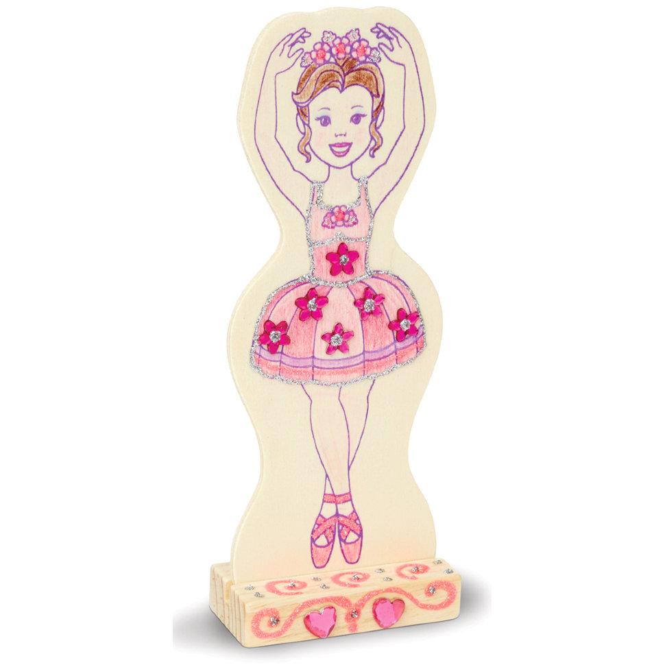 Набор для творчества - деревянная балерина из серии Классические игрушкиРазное<br>Набор для творчества - деревянная балерина из серии Классические игрушки<br>