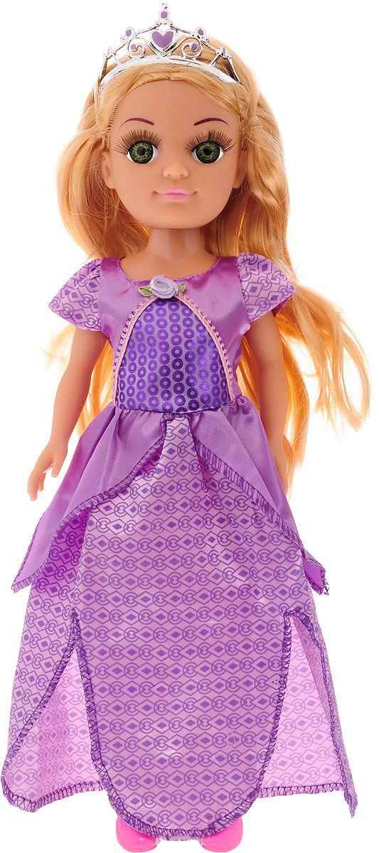 Интерактивная кукла в платье принцессы, говорит 100 фраз, 38 смКуклы Карапуз<br>Интерактивная кукла в платье принцессы, говорит 100 фраз, 38 см<br>