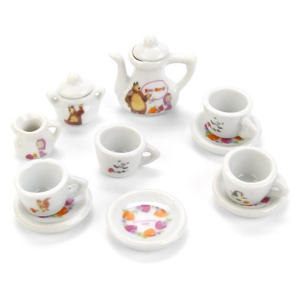 Набор посуды - Маша и Медведь, 11 предметовАксессуары и техника для детской кухни<br>Набор посуды - Маша и Медведь, 11 предметов<br>