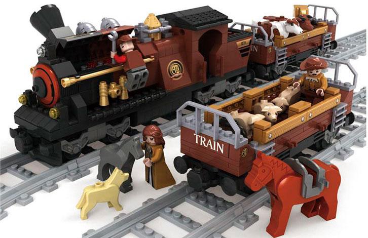 Конструктор Поезд, 531 детальКонструкторы других производителей<br>Конструктор Поезд, 531 деталь<br>