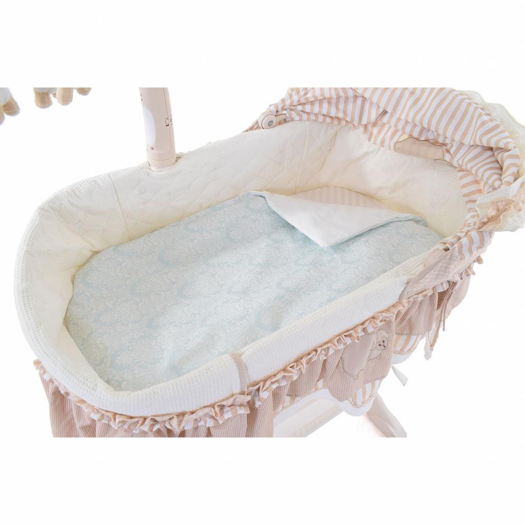 Купить Комплект постельного белья в электронную люльку - Nuovita Estelle, turchese / бирюзовый, 3 предмета