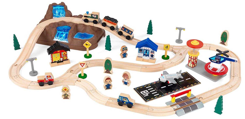 Деревянная железная дорога – Горная вершина, в контейнереДетская железная дорога<br>Деревянная железная дорога – Горная вершина, в контейнере<br>