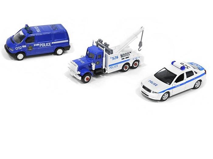 Игровой набор машинок Полиция, 3 предметаИгровые наборы<br>Игровой набор машинок Полиция, 3 предмета<br>