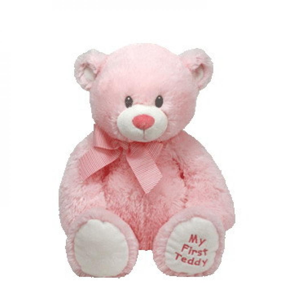 Купить Мягкая игрушка Classic – Медвежонок My First Teddy, розовый, 20 см, TY