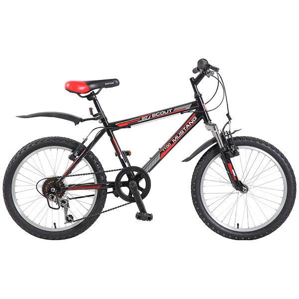 Велосипед подростковый Mustang Scout 1100 черно/красный с колесами 20, рама Хардтейл 14 дюймов, 6 скоростей, переключатель MR22/ML-G56, ручной тормозВелосипеды детские<br>Велосипед подростковый Mustang Scout 1100 черно/красный с колесами 20, рама Хардтейл 14 дюймов, 6 скоростей, переключатель MR22/ML-G56, ручной тормоз<br>