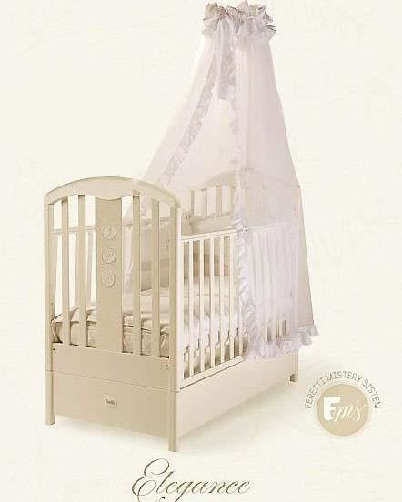 Кровать детская Fms Elegance AvorioДетские кровати и мягкая мебель<br>Кровать детская Fms Elegance Avorio<br>