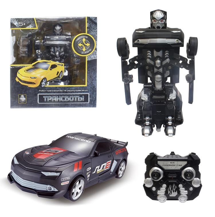 Робот на радиоуправлении 2,4GHz, трансформирующийся в маслкар, чёрныйИгрушки трансформеры<br>Робот на радиоуправлении 2,4GHz, трансформирующийся в маслкар, чёрный<br>