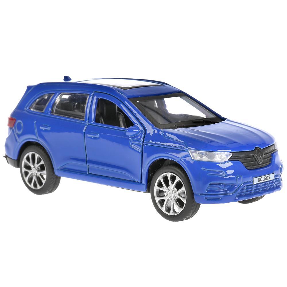 Купить Машина металлическая Renault Koleos, длина 12 см., открываются двери, инерционная, синяя, Технопарк