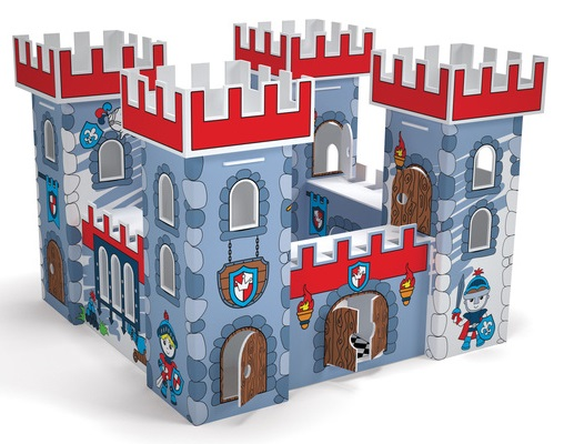Домик игровой для раскрашивания - Рыцарская КрепостьПазлы объёмные 3D<br>Домик игровой для раскрашивания - Рыцарская Крепость<br>