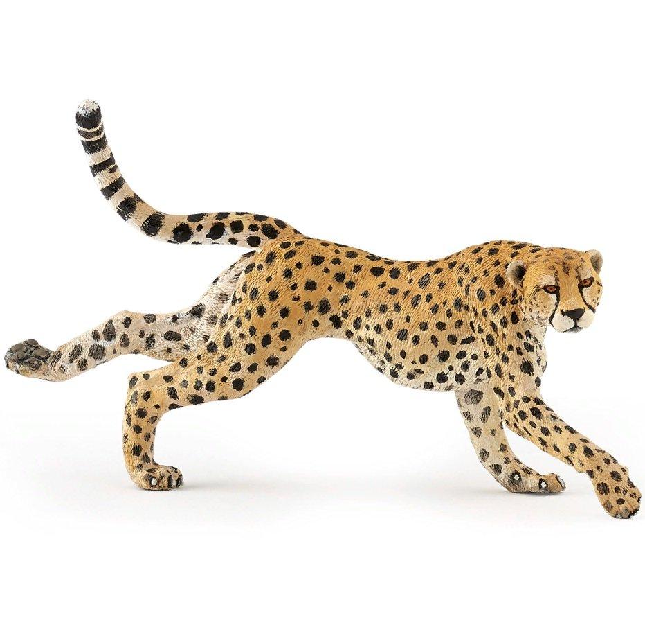 Фигурка - Гепард в прыжке, размер 13 см. фото
