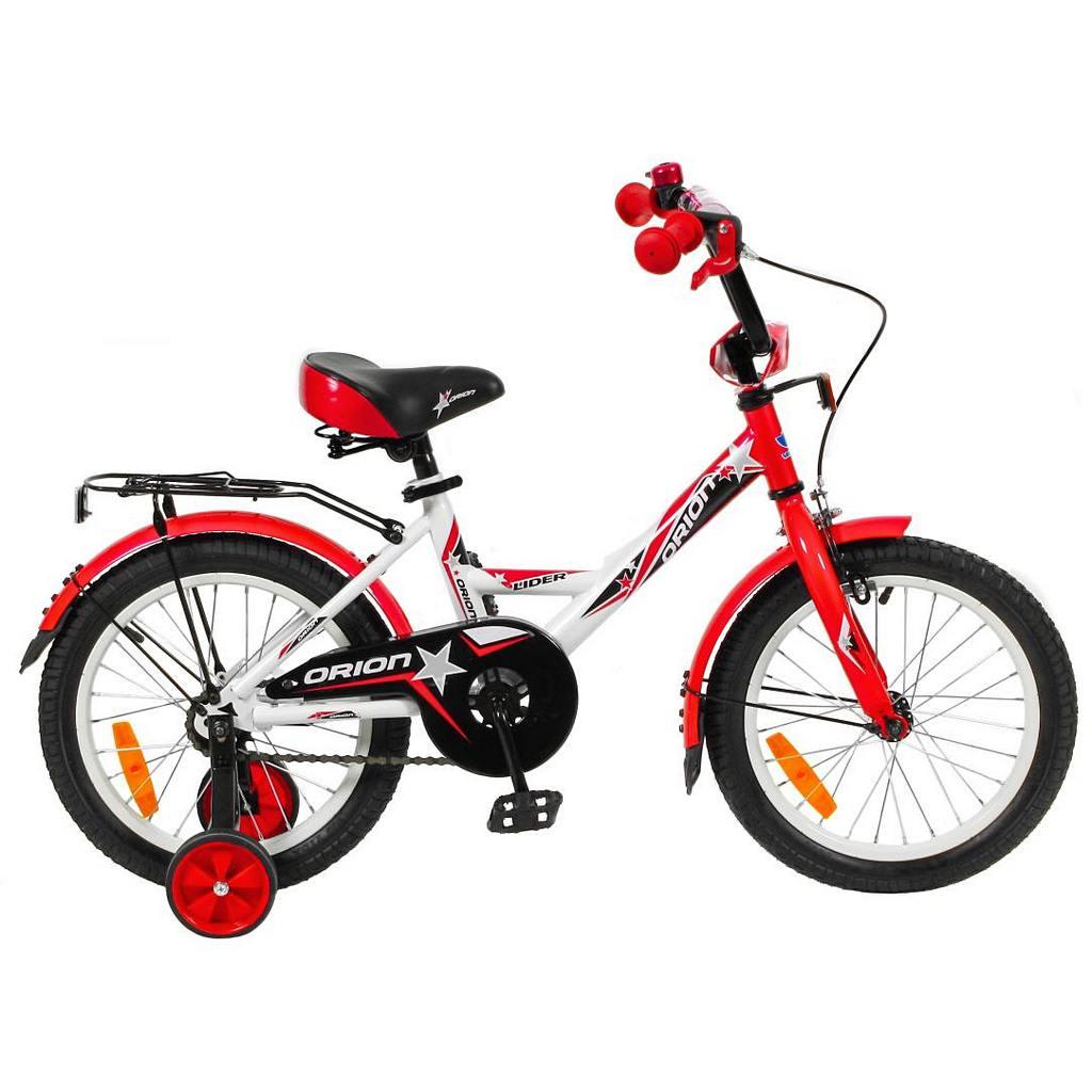 Двухколесный велосипед Lider Orion диаметр колес 16 дюймов, белый/красныйВелосипеды детские<br>Двухколесный велосипед Lider Orion диаметр колес 16 дюймов, белый/красный<br>