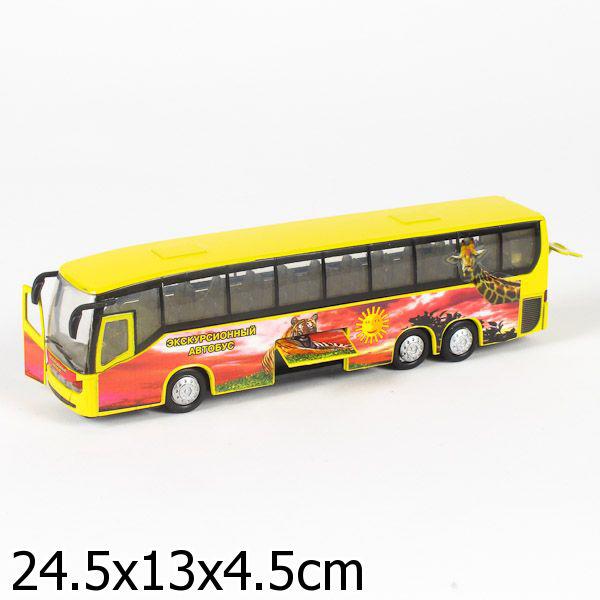 Инерционный экскурсионный автобус Сафари, свет, звукАвтобусы, трамваи<br>Инерционный экскурсионный автобус Сафари, свет, звук<br>