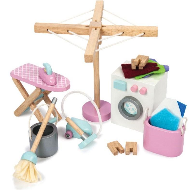 Набор для кукольного домика «Прачечная и уборка», 18 элементовКукольные домики<br>Набор для кукольного домика «Прачечная и уборка», 18 элементов<br>
