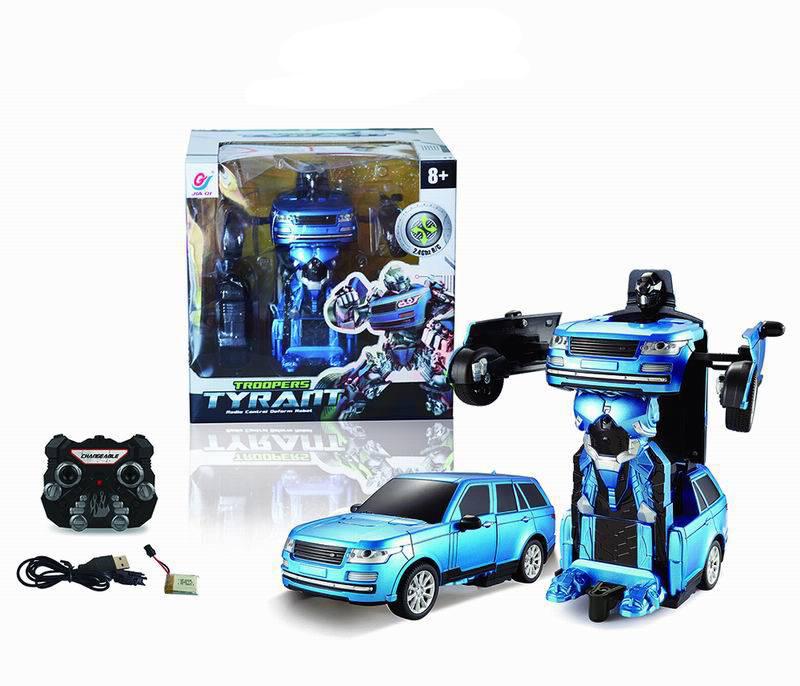 Радиоуправляемый робот-трансформер Troopers – Tyrant, синий, свет и звукИгрушки трансформеры<br>Радиоуправляемый робот-трансформер Troopers – Tyrant, синий, свет и звук<br>