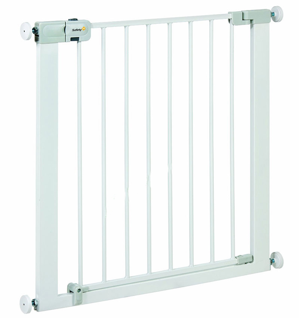 Защитный металлический барьер-калитка для дверного или лестничного проема - Easy Close Metal, 73-80 смБезопасность ребенка<br>Защитный металлический барьер-калитка для дверного или лестничного проема - Easy Close Metal, 73-80 см<br>