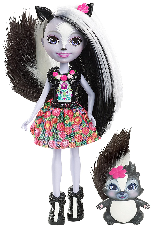 Кукла Enchantimals с питомцем - Седж Скунси, 15 смКуклы Enchantimals (Энчантималс)<br>Кукла Enchantimals с питомцем - Седж Скунси, 15 см<br>