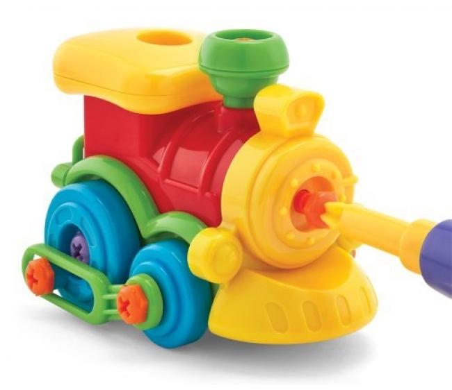 Набор - Юный механик с паровозикомЖелезная дорога для малышей<br>Набор - Юный механик с паровозиком<br>