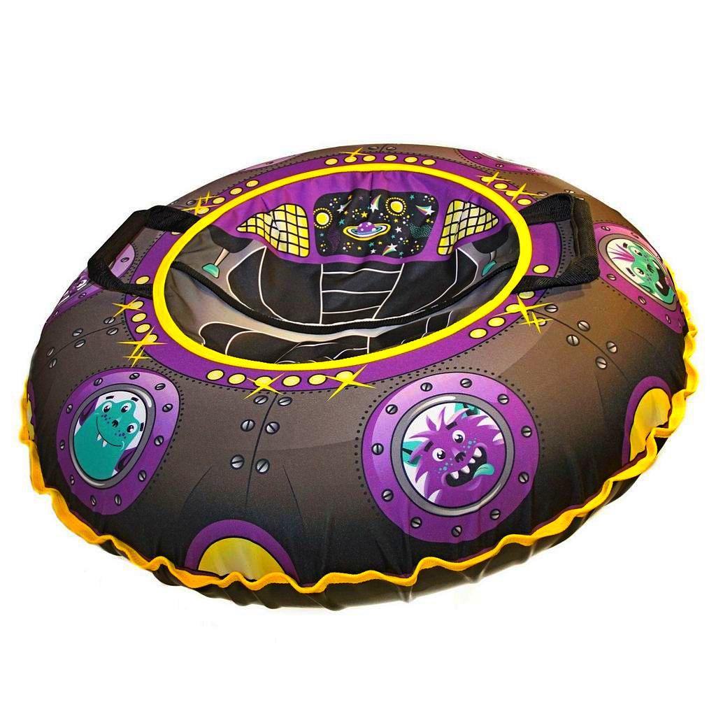 Купить Санки надувные Тюбинг Эксклюзив - Летающая тарелка, автокамера, диаметр 100 см, RT