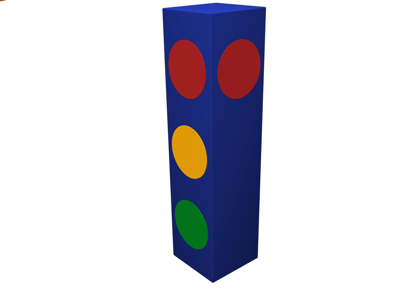 Мягкая контурная игрушка - Светофор