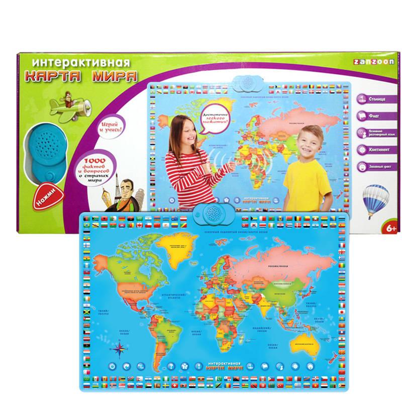 Карта мира интерактивная - Планшеты, Электронные книги и плакаты, артикул: 165861