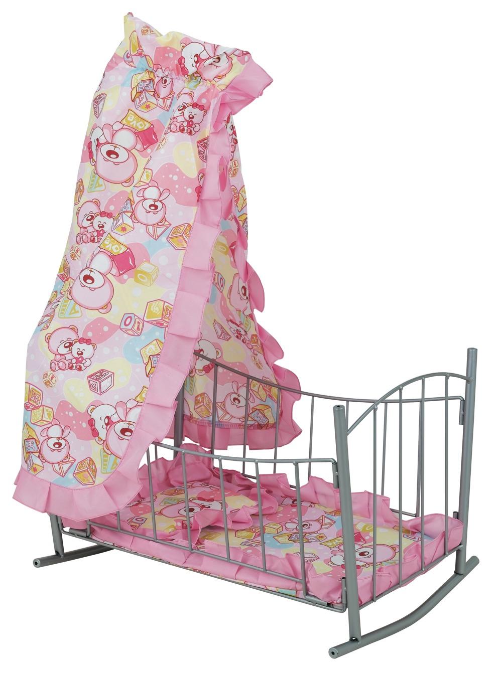 Кроватка для куклы с балдахином - Детские кроватки для кукол, артикул: 7177