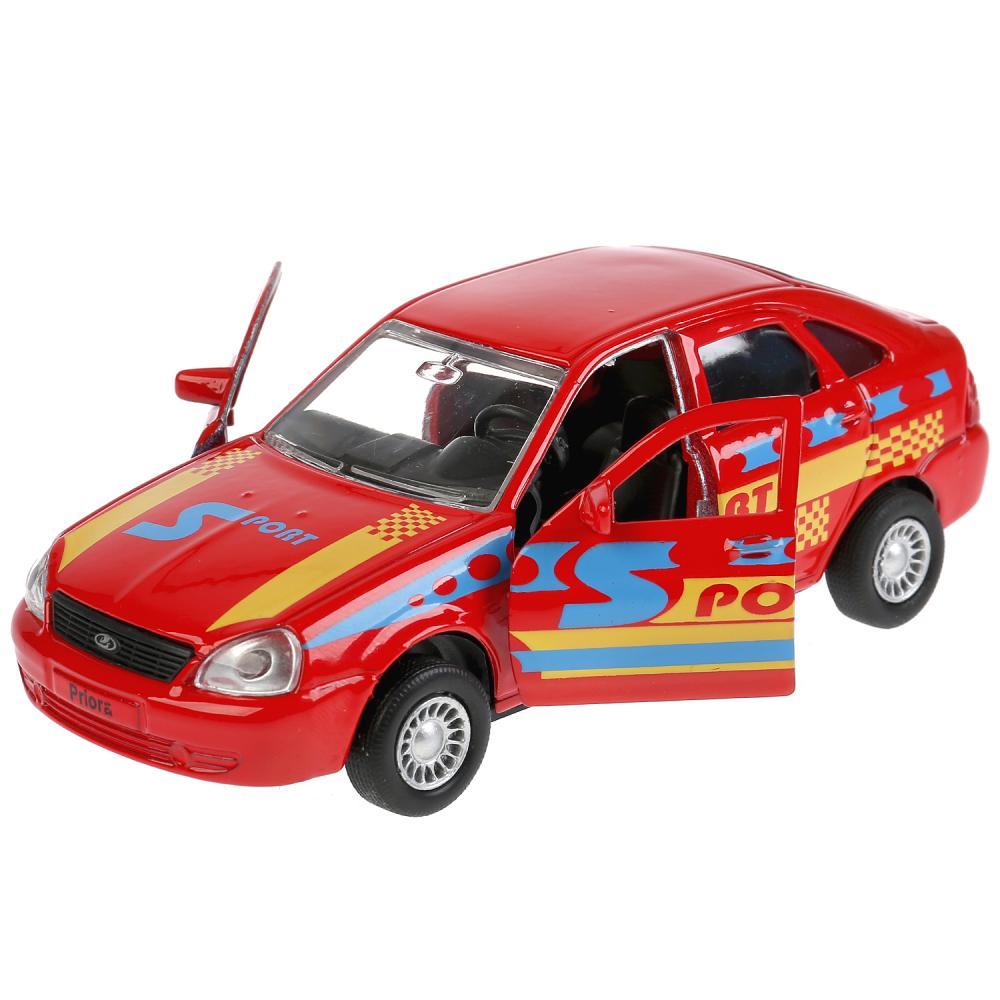 Купить Металлическая инерционная модель – Lada Priora хэтчбек спорт, 12 см, открывающиеся двери и багажник WB), Технопарк
