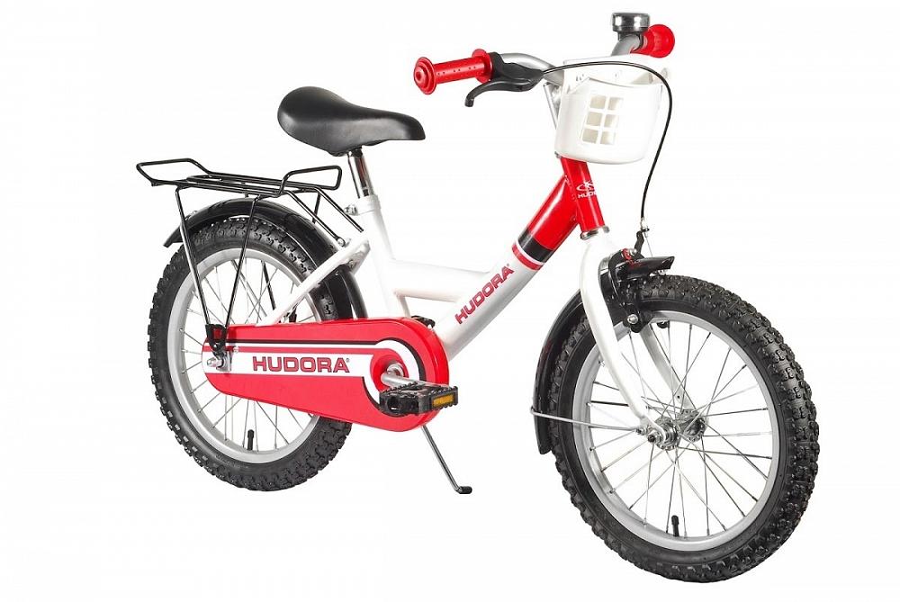 Детский велосипед двухколёсный красный, стальная рама, колеса 16 дюймов
