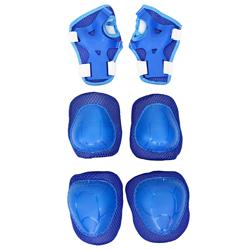 Набор защиты для катания 144405 YWHJ-022, размер М, цвет – blueЗащита: шлемы и пр.<br>Набор защиты для катания 144405 YWHJ-022, размер М, цвет – blue<br>